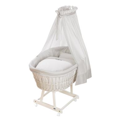 Alvi Birthe prútený košík biely