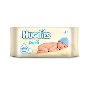Vlhčené utierky Huggies Pure