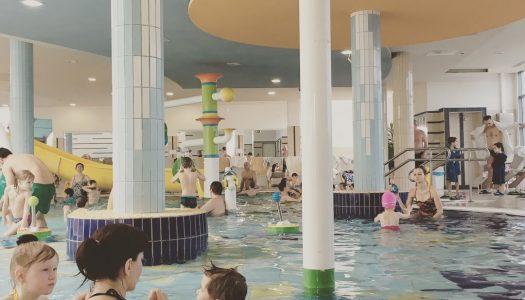 Termálne kúpele Sarvár s deťmi v zime