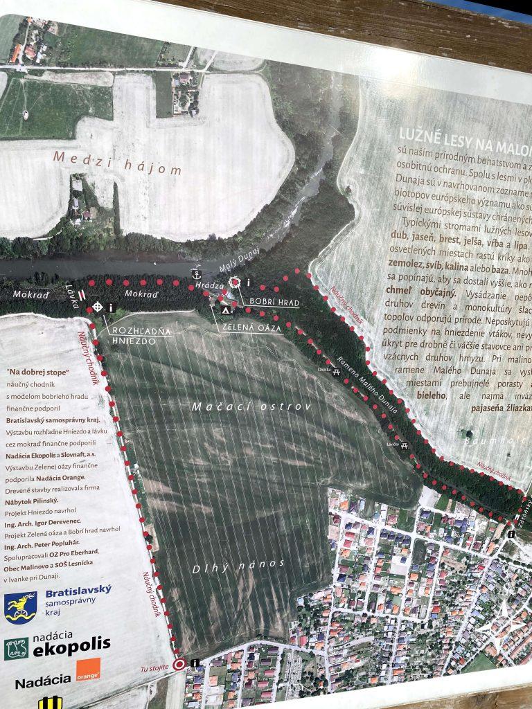 Mapa a trasa k Rozhľadni Hniezdo